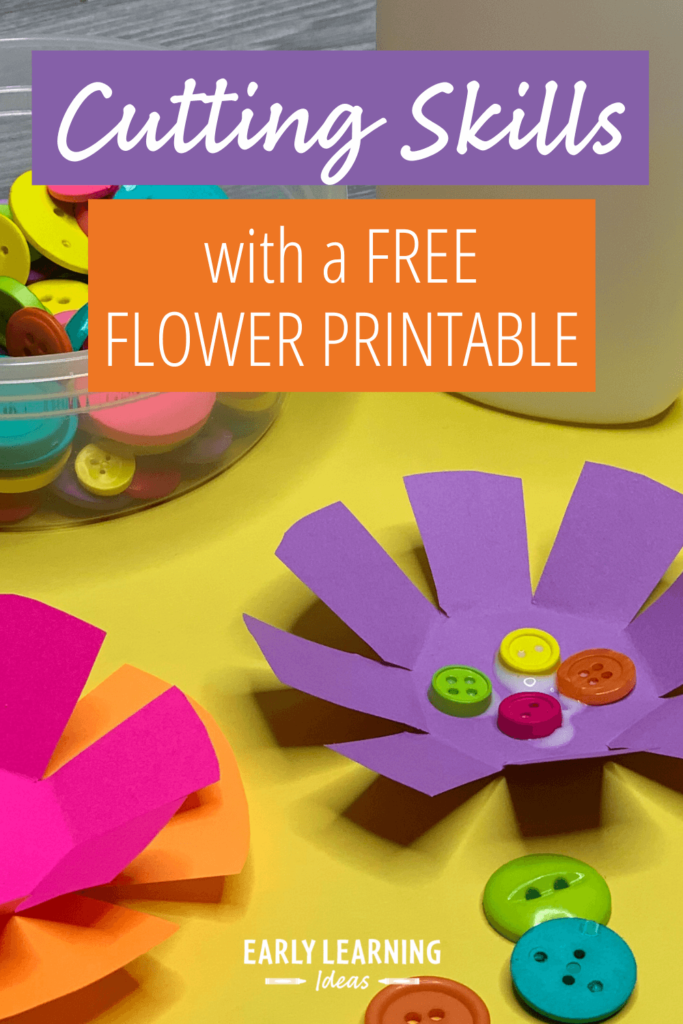 cutting skills with a flower printable