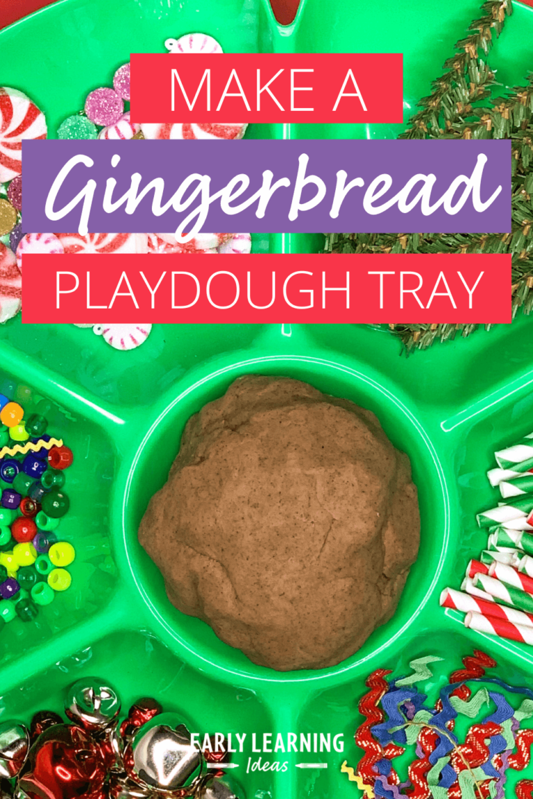 How to Make a Gingerbread Playdough Tray for your Kids