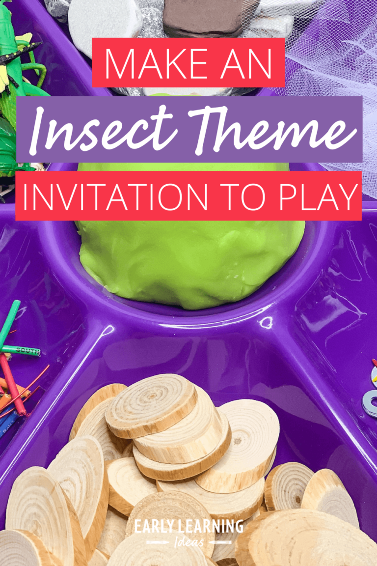 How to Make the Best Bug Themed Playdough Invitation to Play