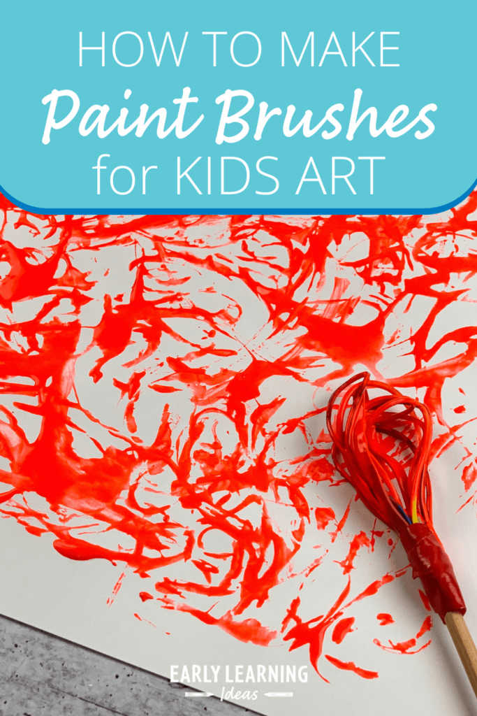 Make paintbrushes for kids art feature
