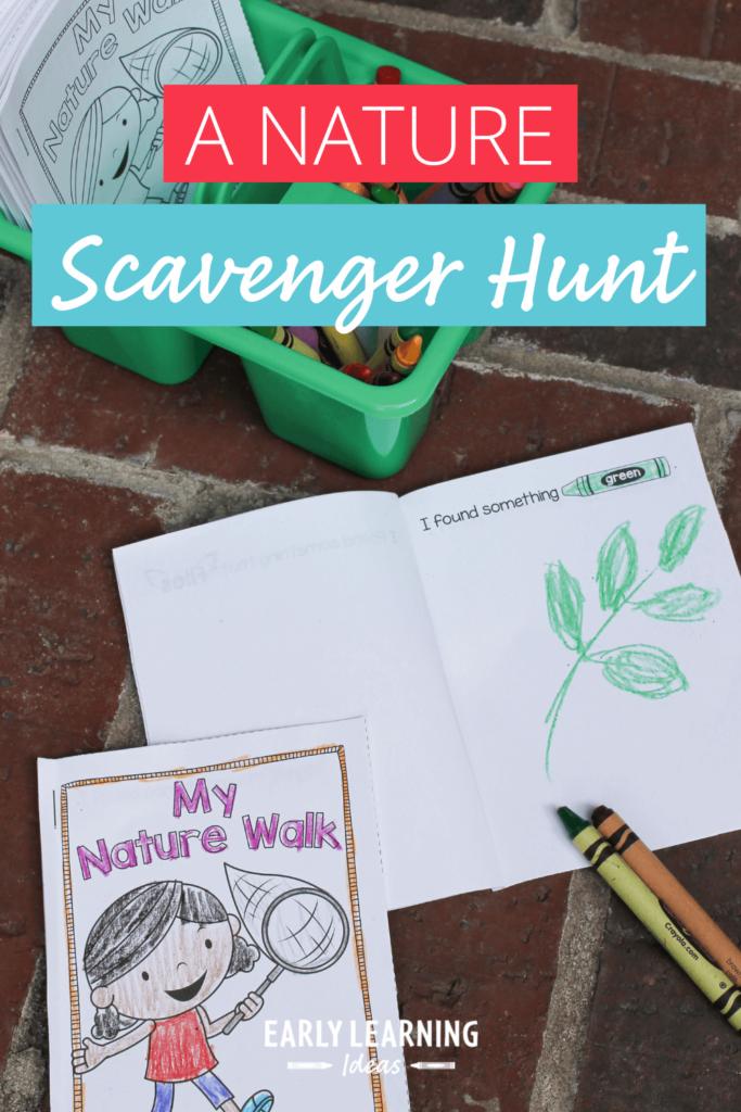 nature scavenger hunt printable for your preschoolers
