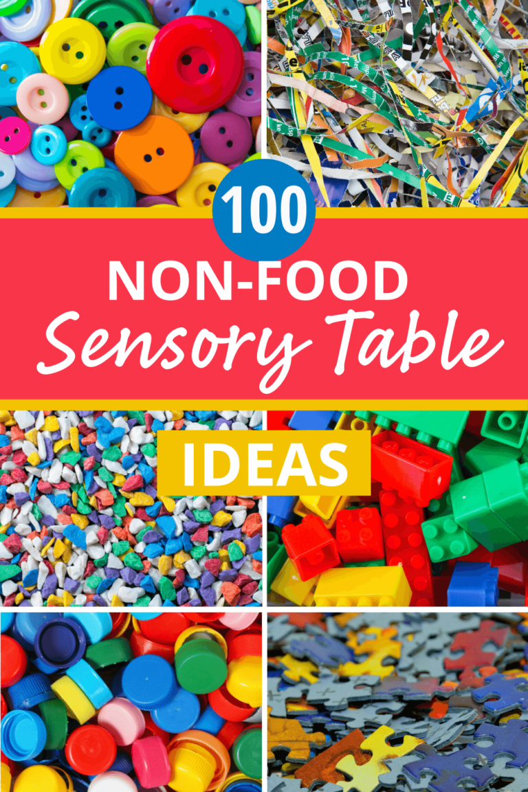 100 of the best non-food sensory table material ideas