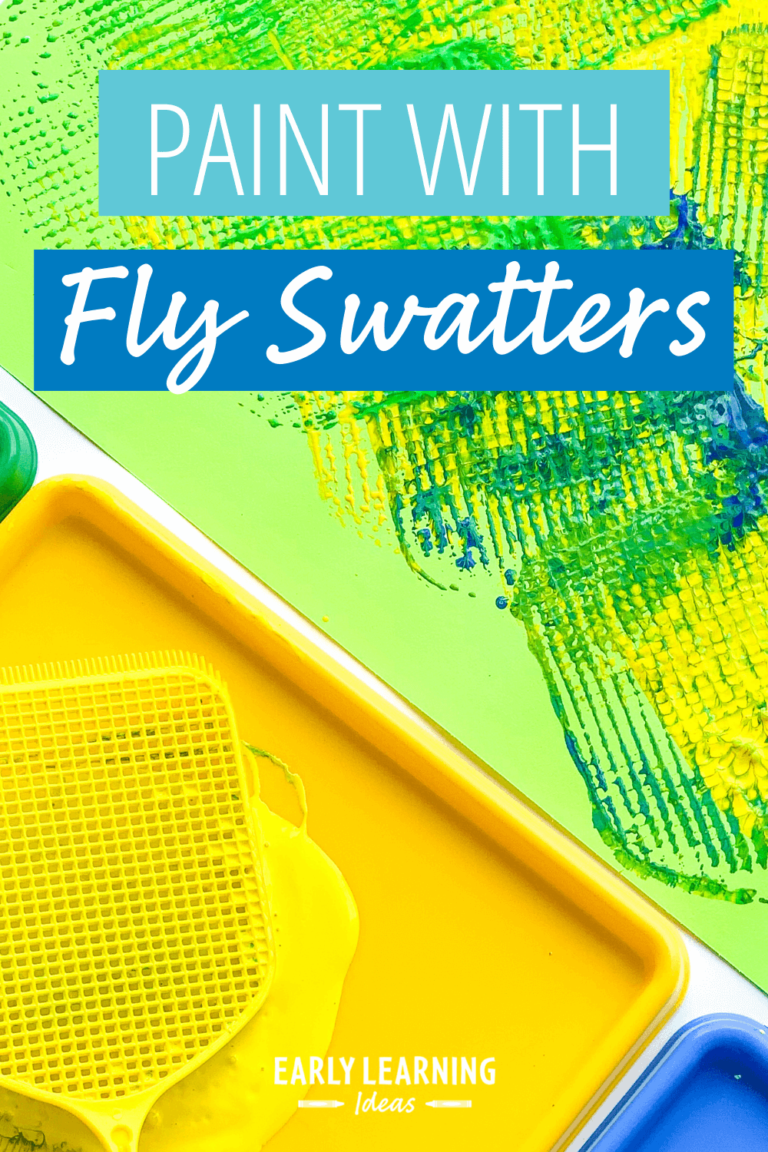 Easy Art for Preschoolers:  How to Paint with a Flyswatter