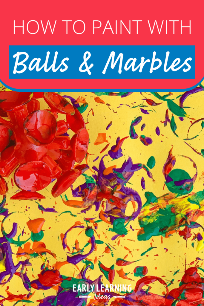 paint with balls and marbles