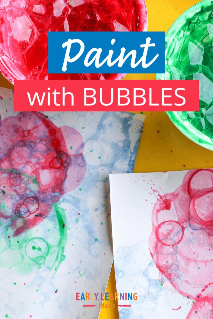 bubble painting art activity