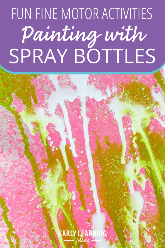 how to paint with spray bottles