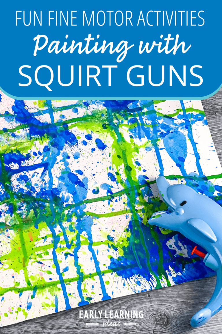 Squirt Gun Painting:  This is an Exciting Art Project for Kids