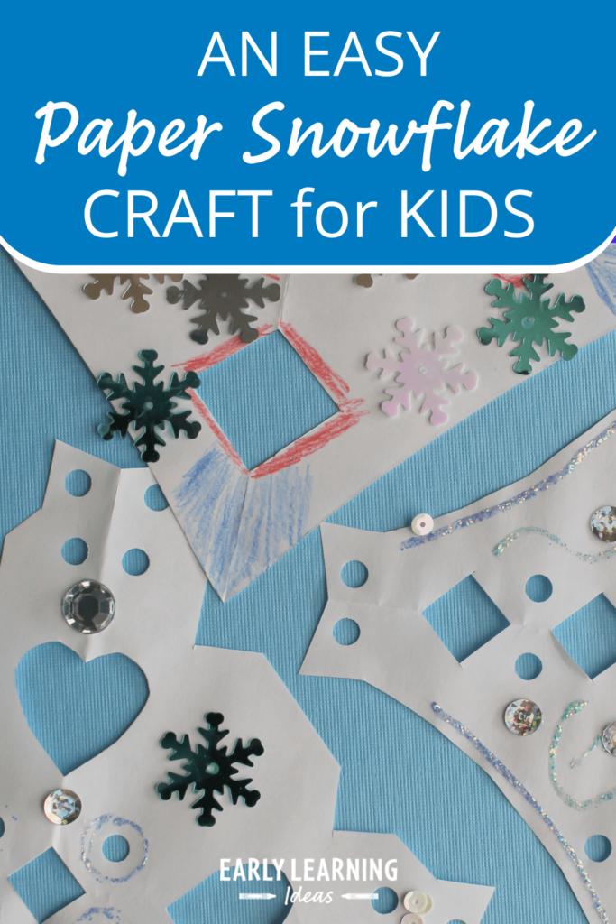 paper snowflake craft for preschoolers