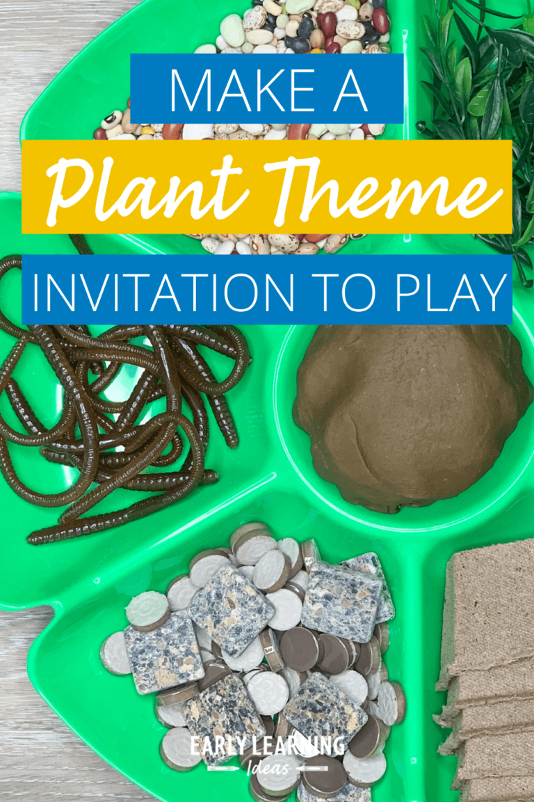 How to Make an Exciting Plant Theme Playdough Invitation
