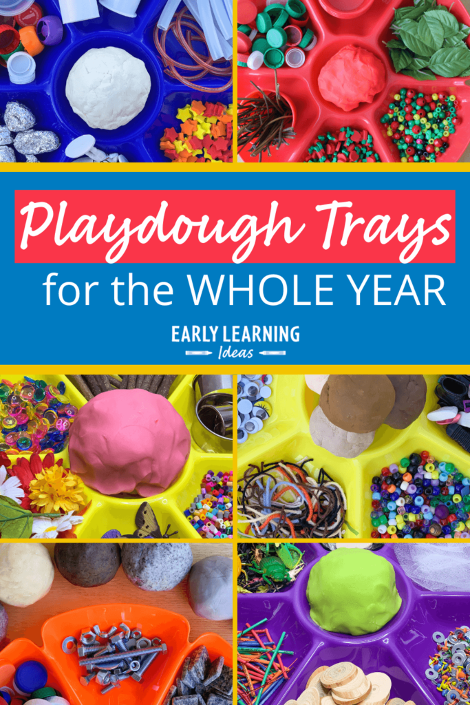 playdough trays for the whole year