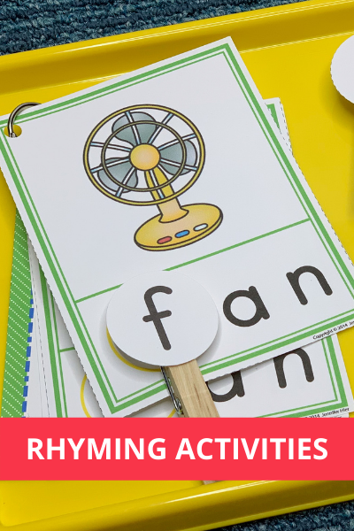 rhyming activities and ideas for preschool and pre-k