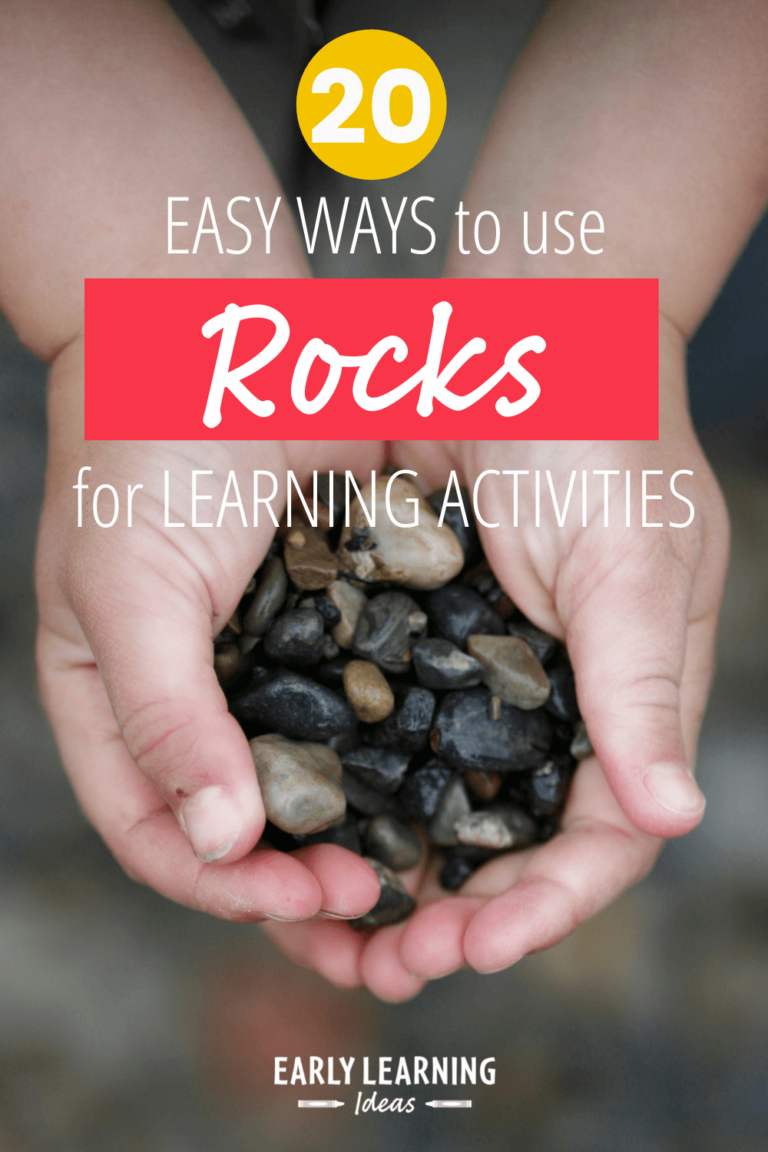 20 Easy Activities with Rocks that will Make Learning Fun