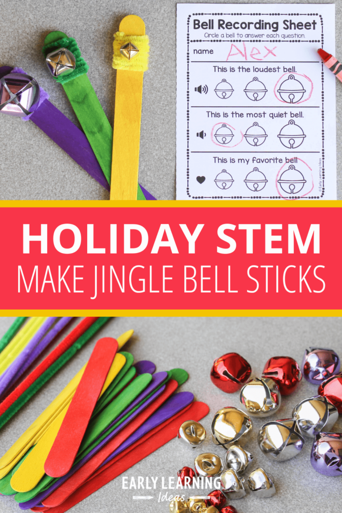 Christmas STEM activity with a jingle bell