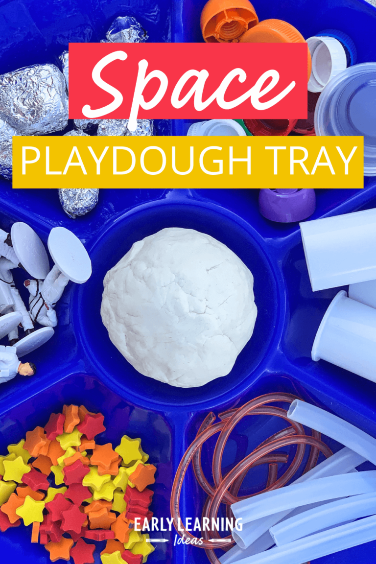 How to Make a Space Theme Playdough Tray