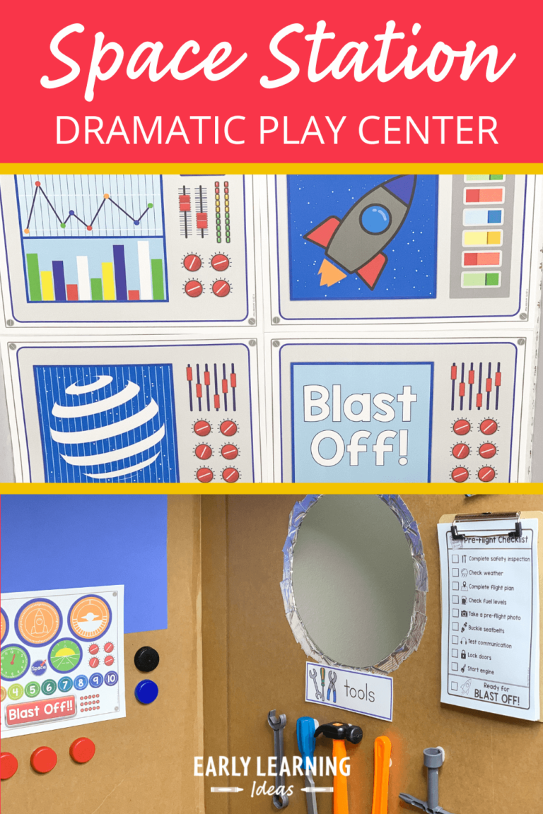 How to Make a Space Dramatic Play Area