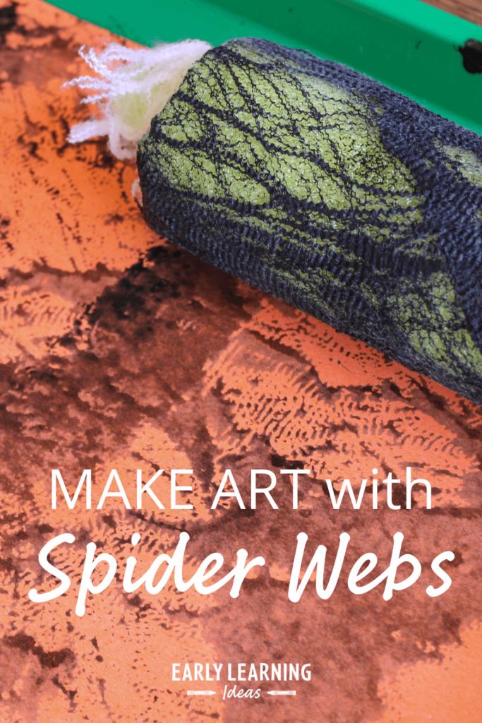 art activities with spider webs