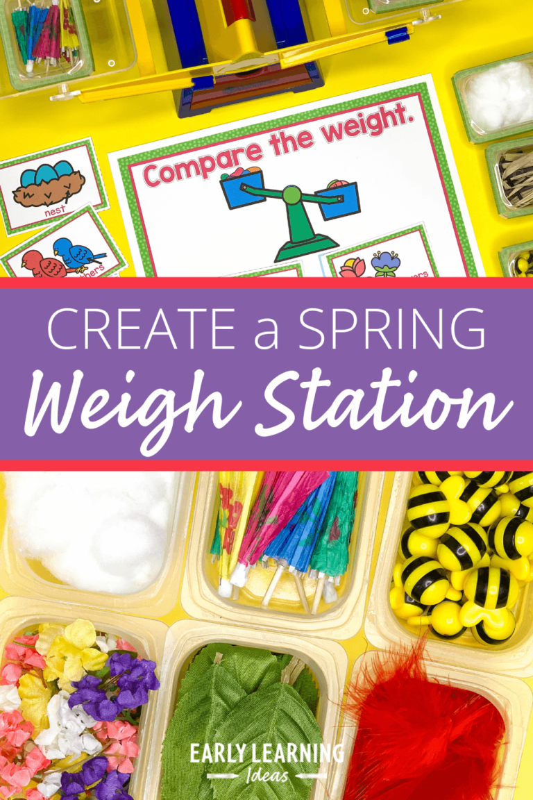 How to Make a Spring Weight Station with a Balance Scale