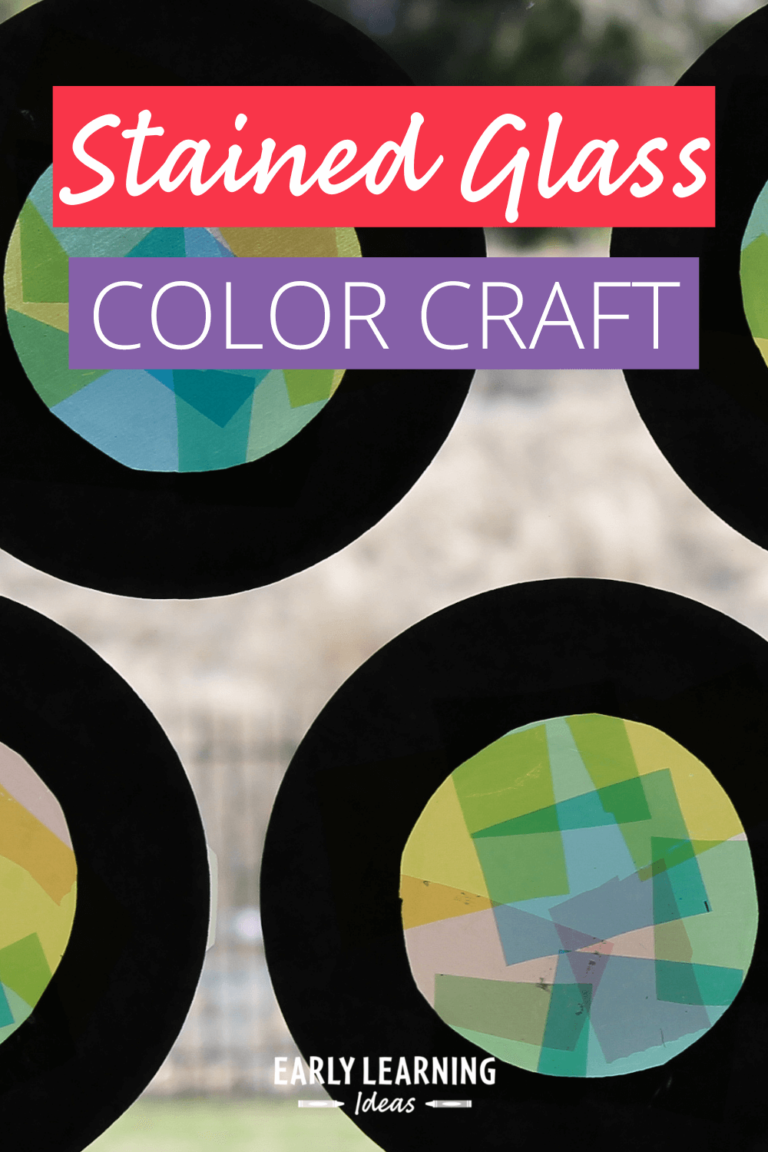 How to Get Your Kids Excited About Color with a Stained Glass Craft
