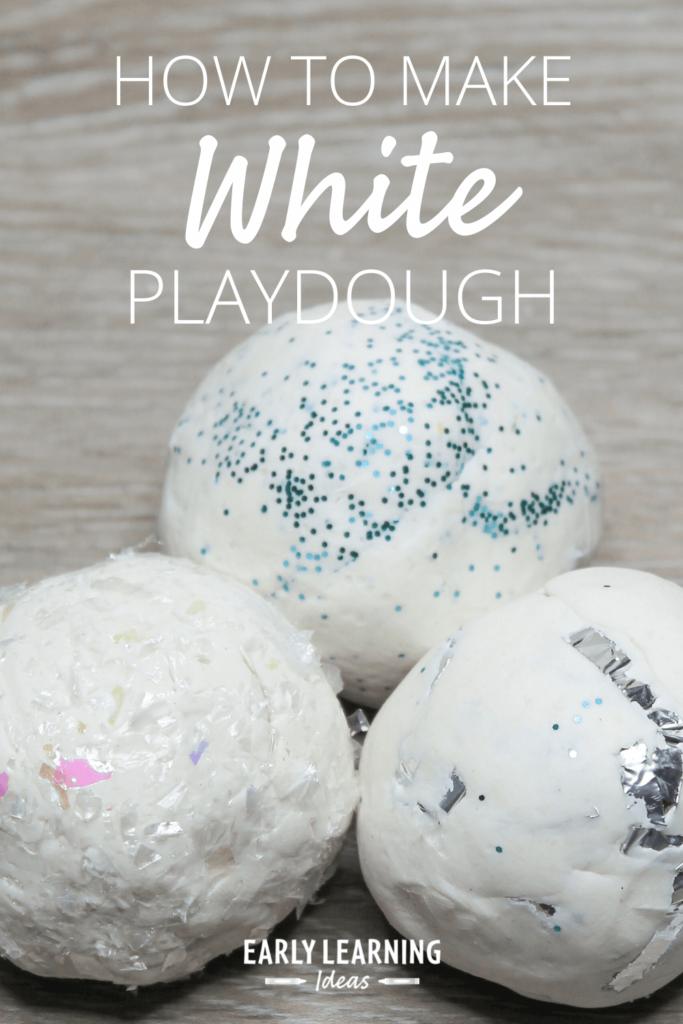 make white playdough