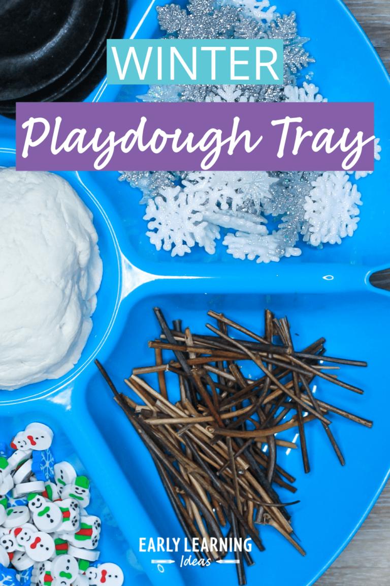 How to Easily Make a Winter Playdough Tray