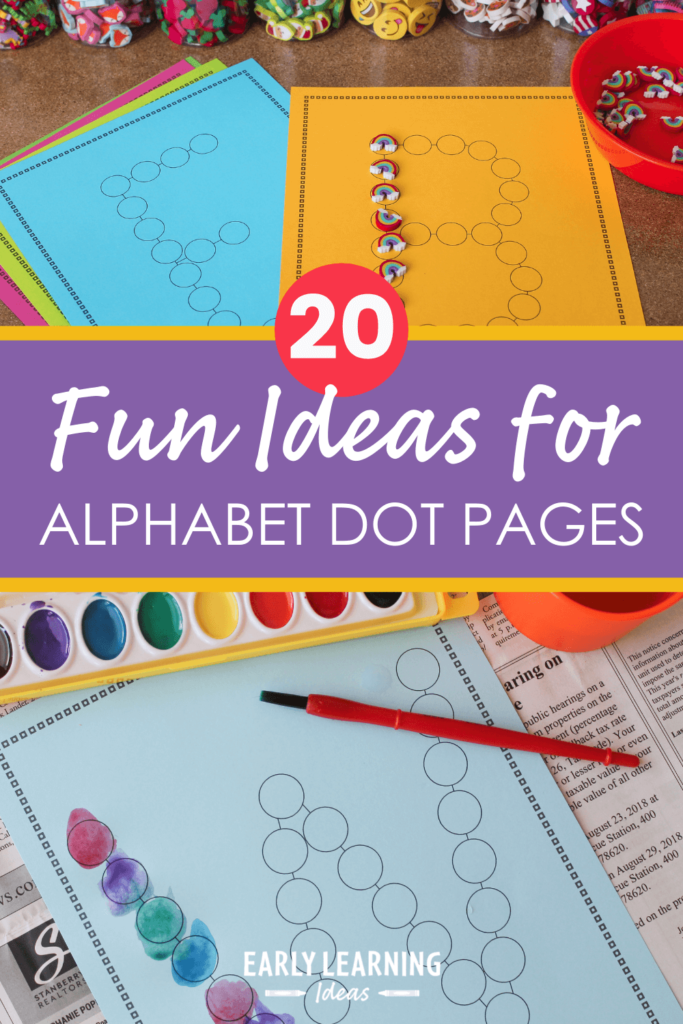 alphabet dot pages activities