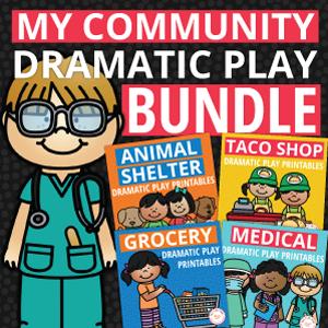 my community dramatic play printables