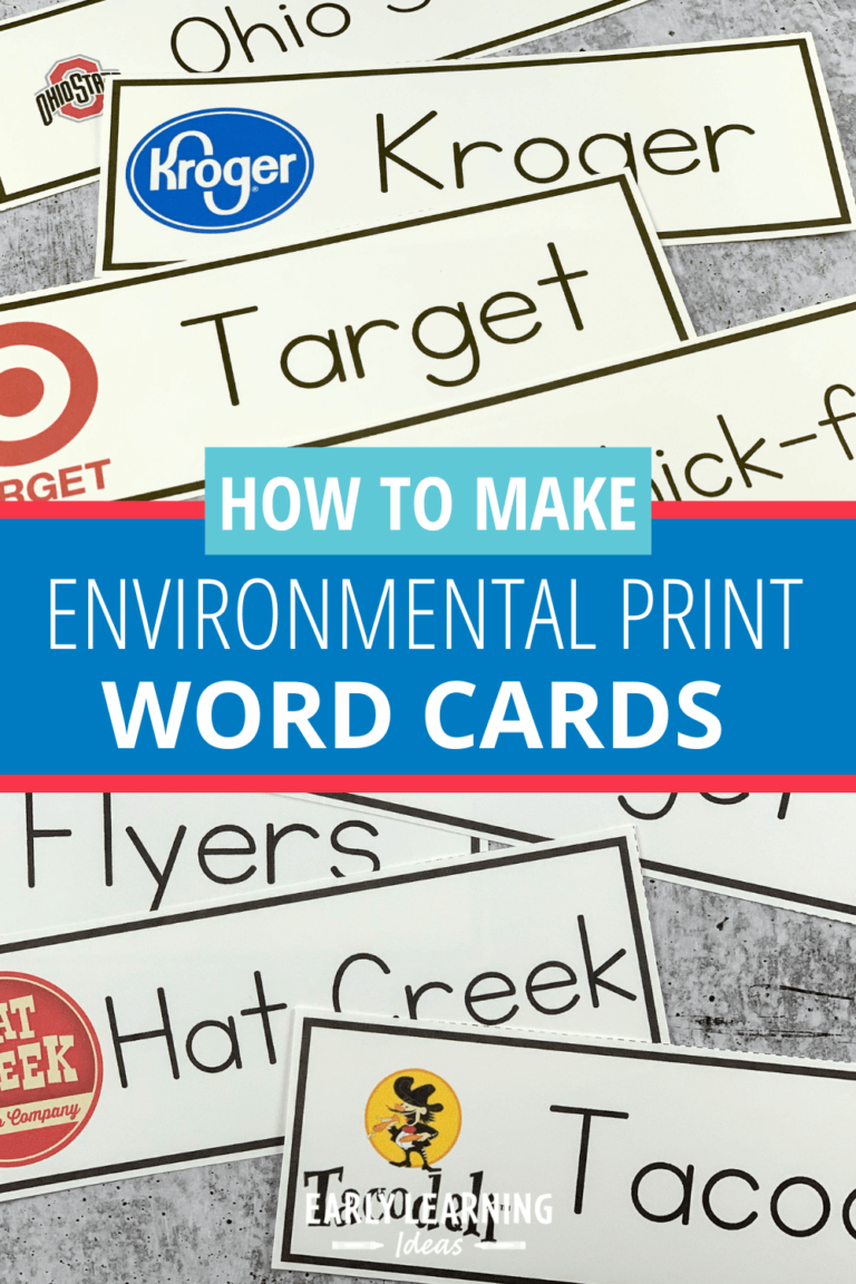 How to Make Environmental Print Word Cards for Your Kids