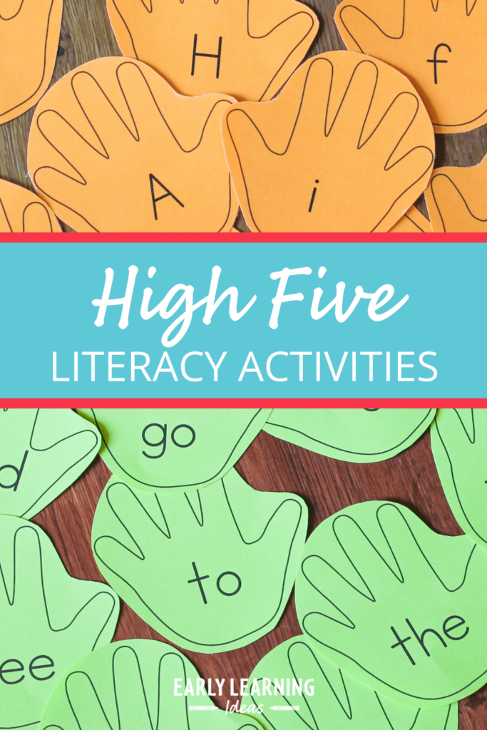 high five alphabet activities