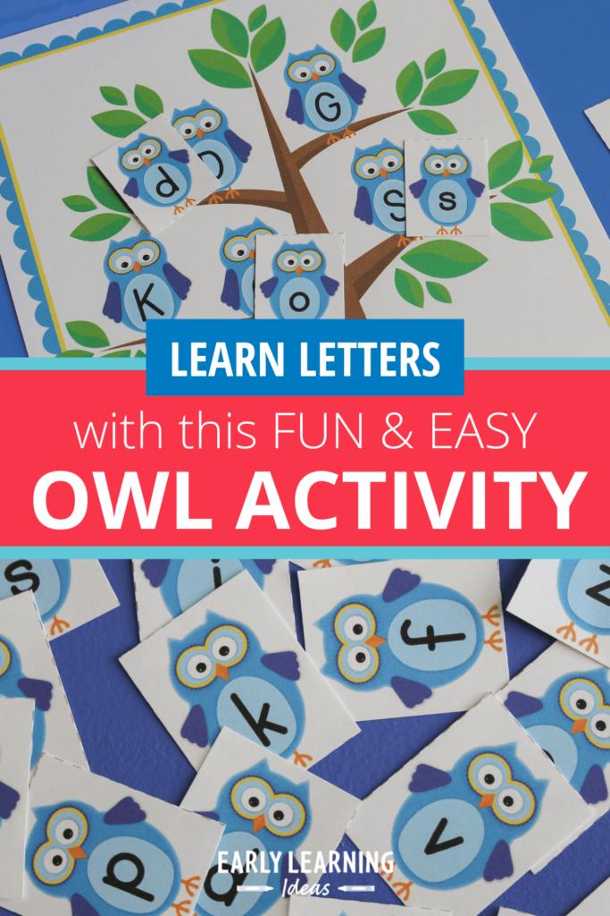 owl letter activities