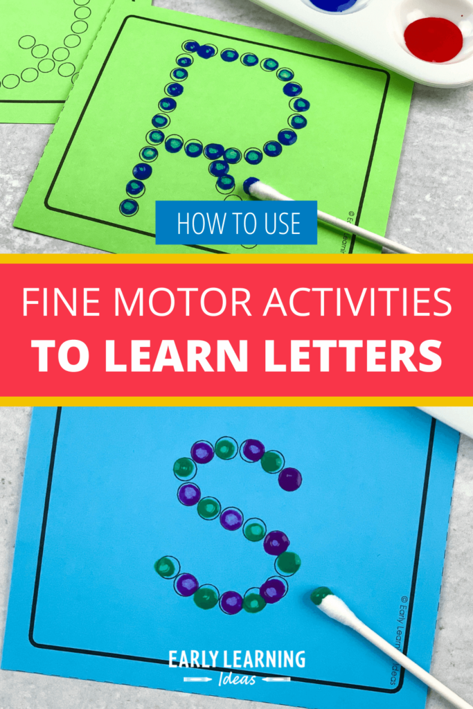 learning letters with fine motor activities