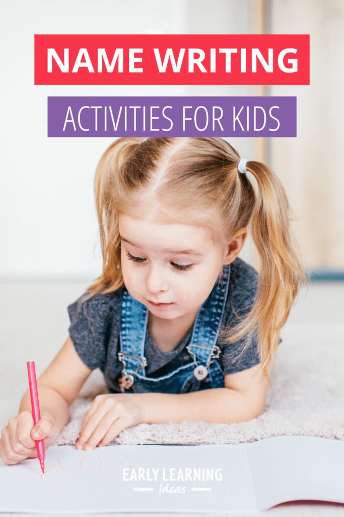 name writing activities for preschoolers