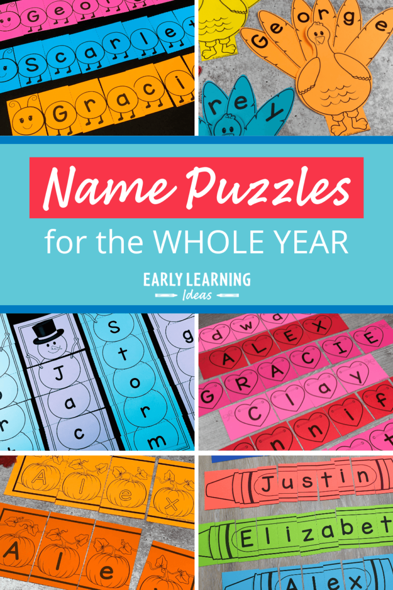 Make Custom Printable Name Puzzles for the Whole Year