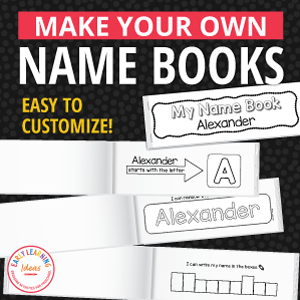 name activity books for preschool and prek