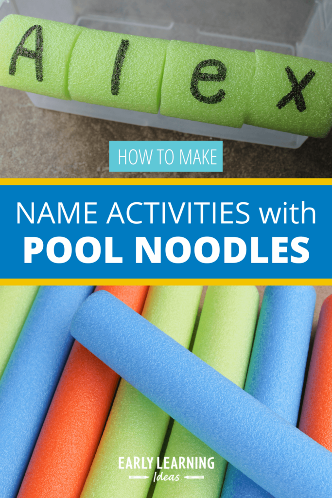 name activities with pool noodles