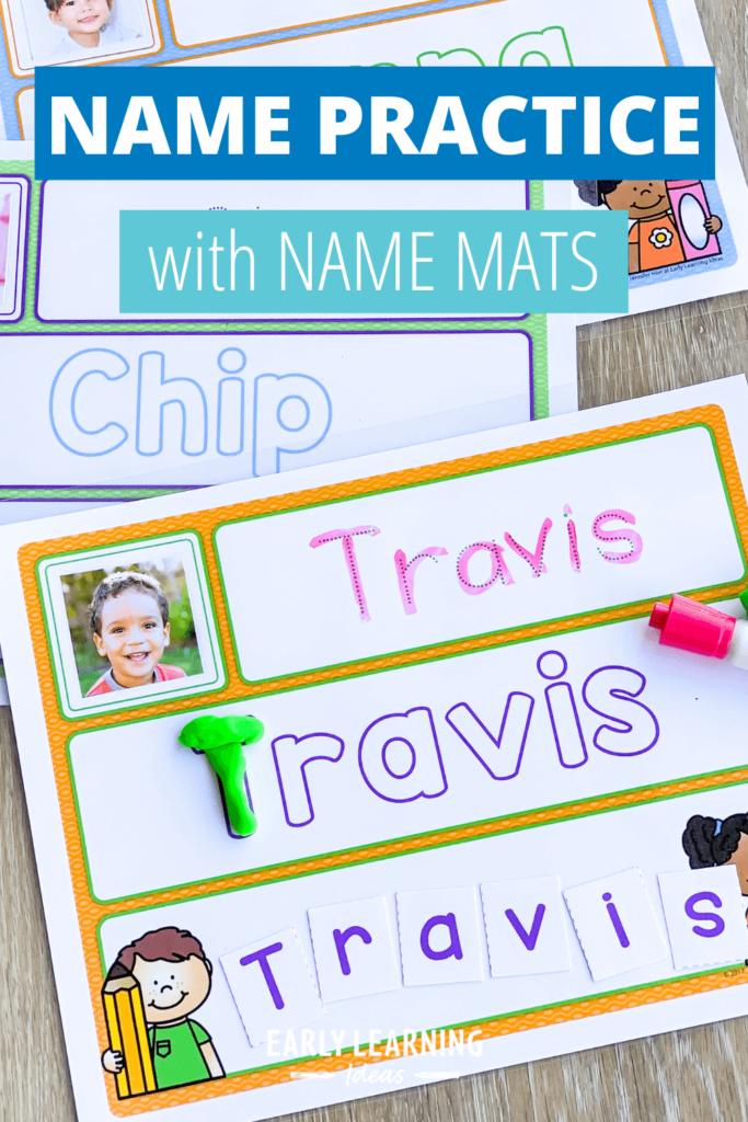 name practice mats