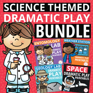 science themed dramatic play activity bundle