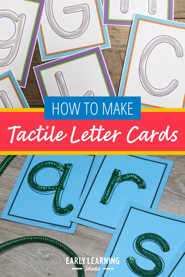 How to Make Tactile Letters That are Irresistible to Your Kids