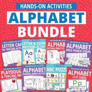 hands on alphabet activity bundle