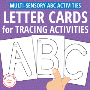 letter cards for alphabet tracing activities