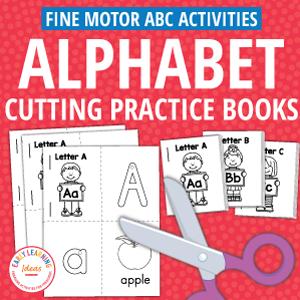 alphabet cutting practice books