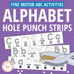 alphabet hole punch activities