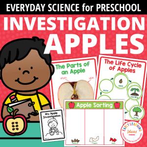 apple science activities for preschool