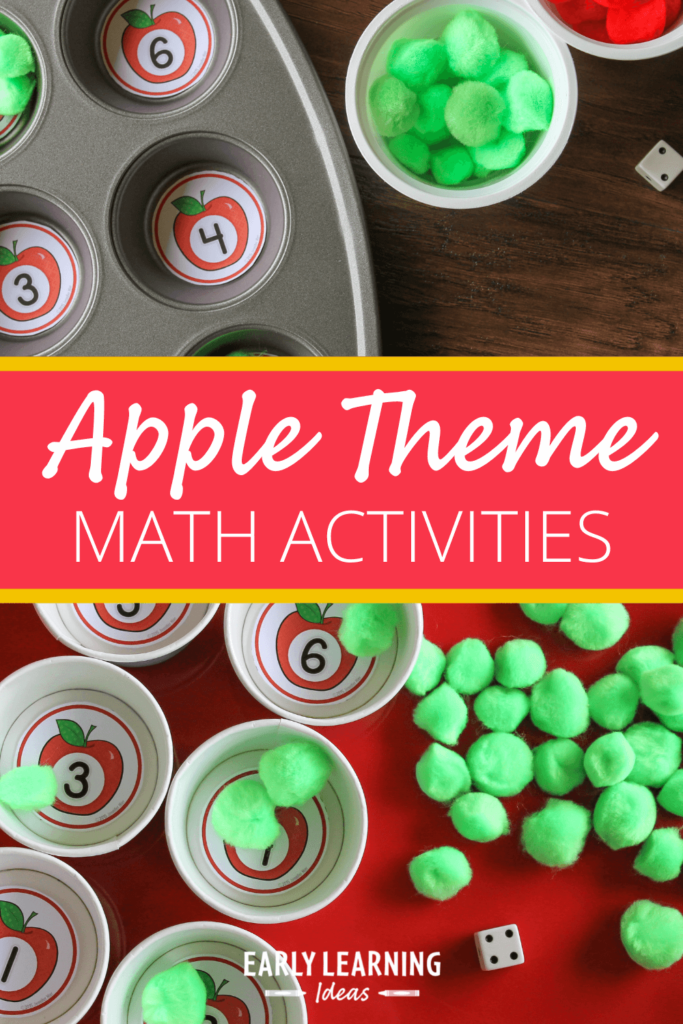 apple number circles for math activity