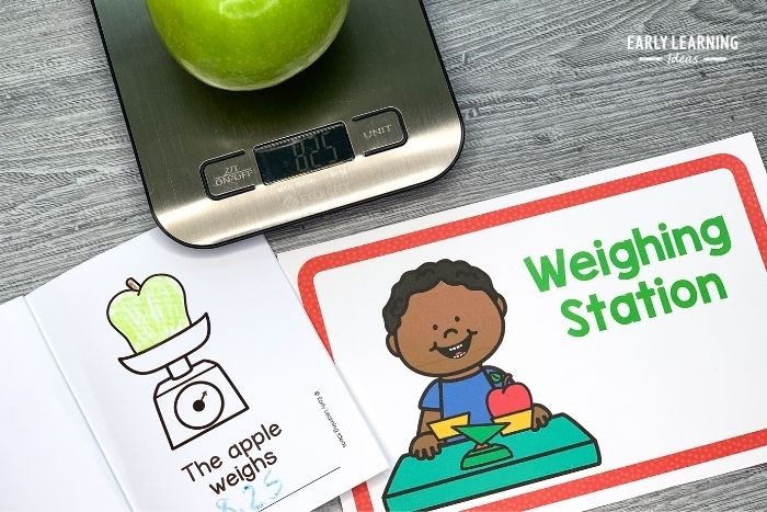 measure an apple's weight for scientific investigation