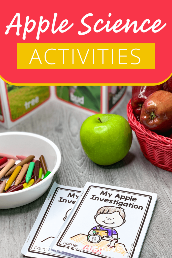Apple science activities for preschool and pre-k