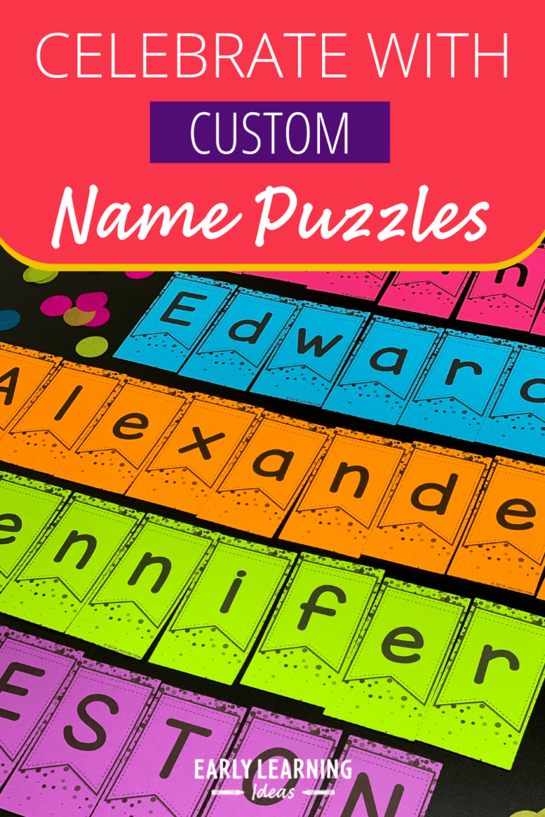It's Time to Celebrate with These Editable Name Puzzles