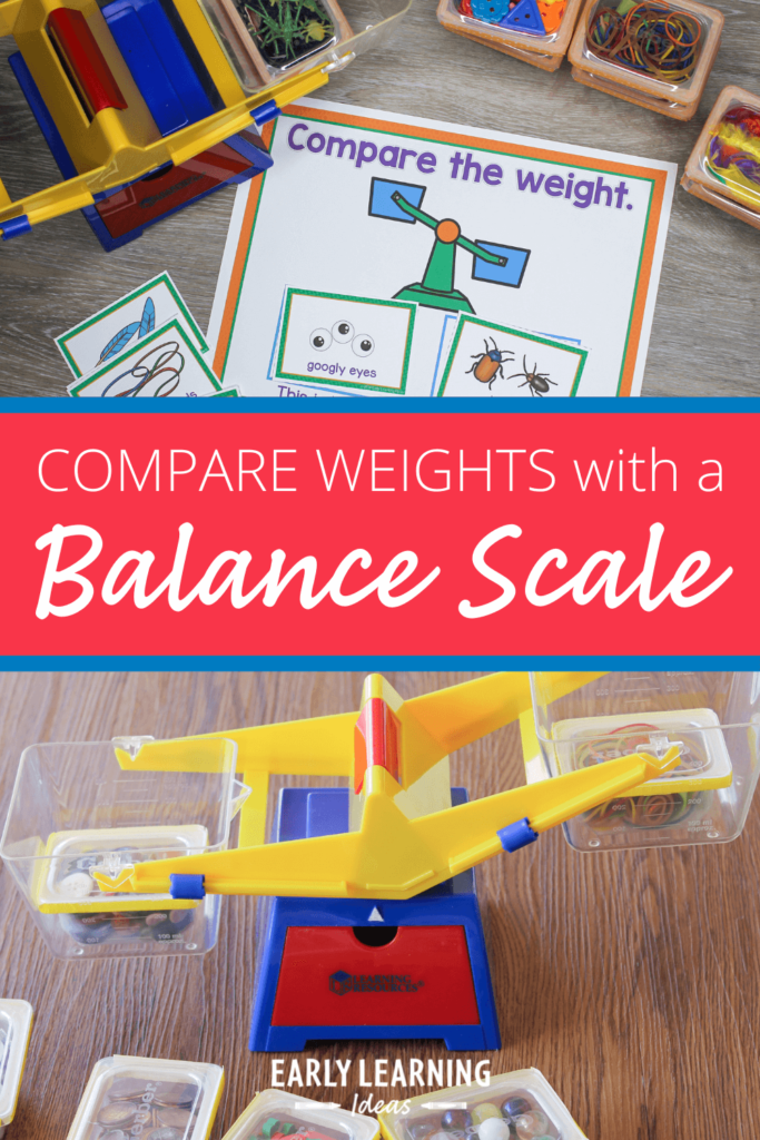 comparing weights with a balance scale