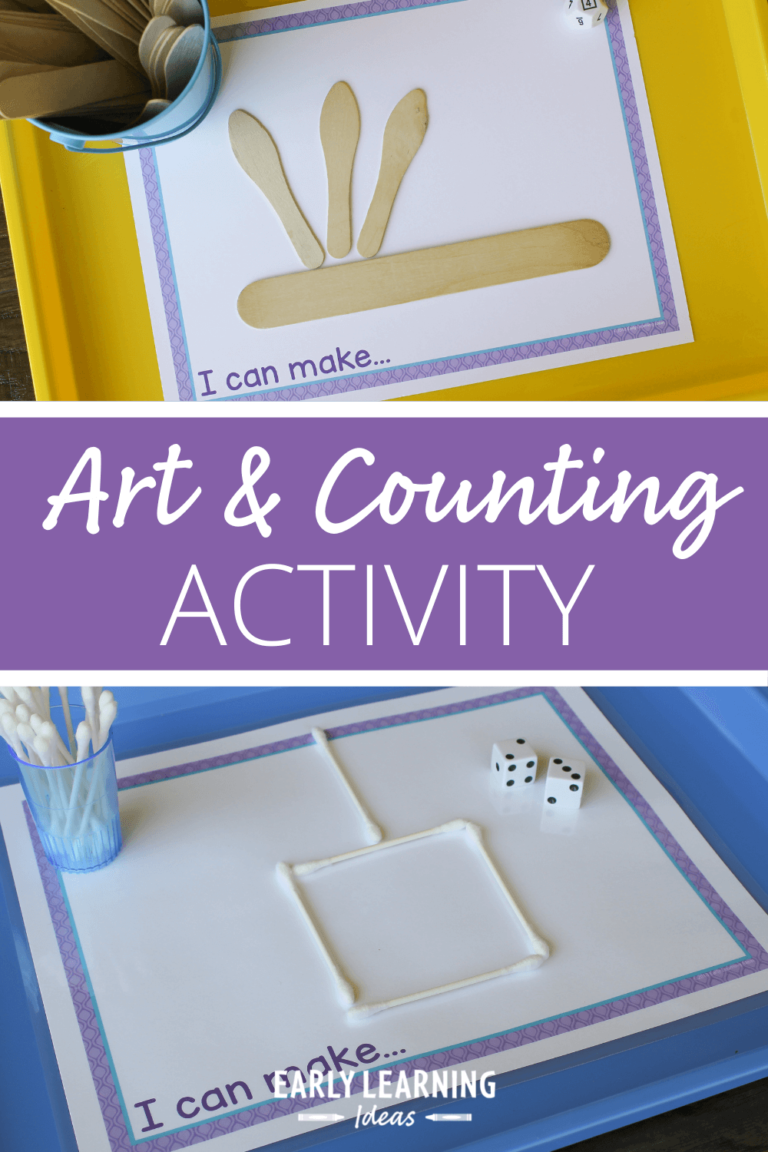 This is What Happens When you Combine a Preschool Counting Activity with Art