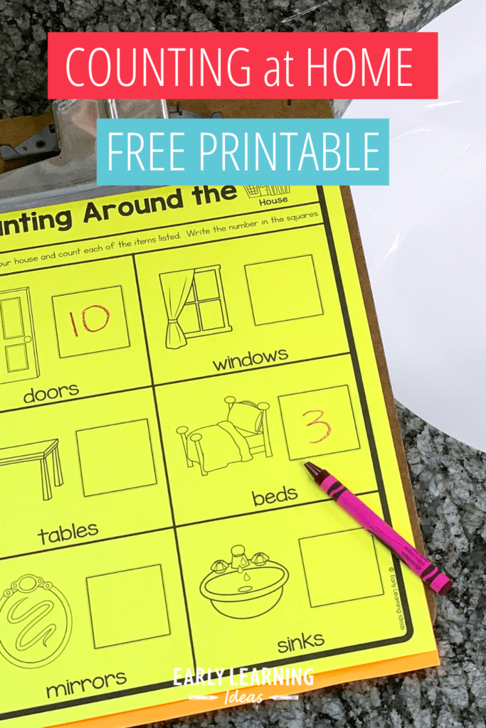 counting around the house printable