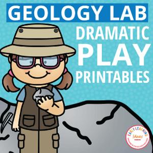 geology lab dramatic play printables